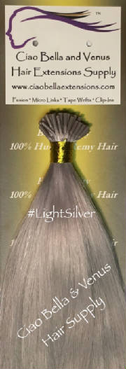 Buy the best human remy hair extensions brands online micro bead luxury remy hair 18 in st color light silver pmusecretfo Gallery