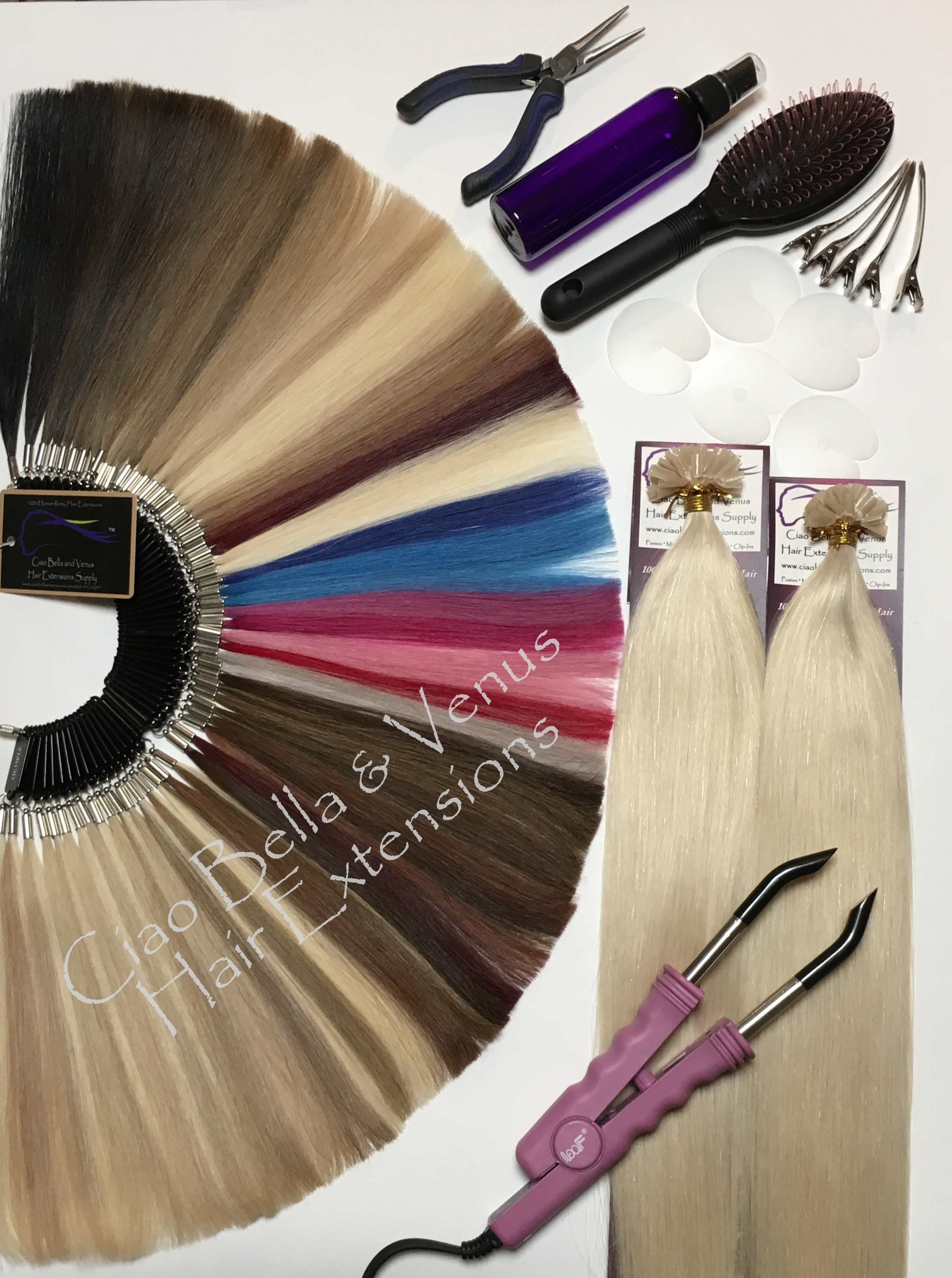 Buy the best human remy hair extensions brands online design kit 2 packs straight fusion hair extensions kits pmusecretfo Choice Image