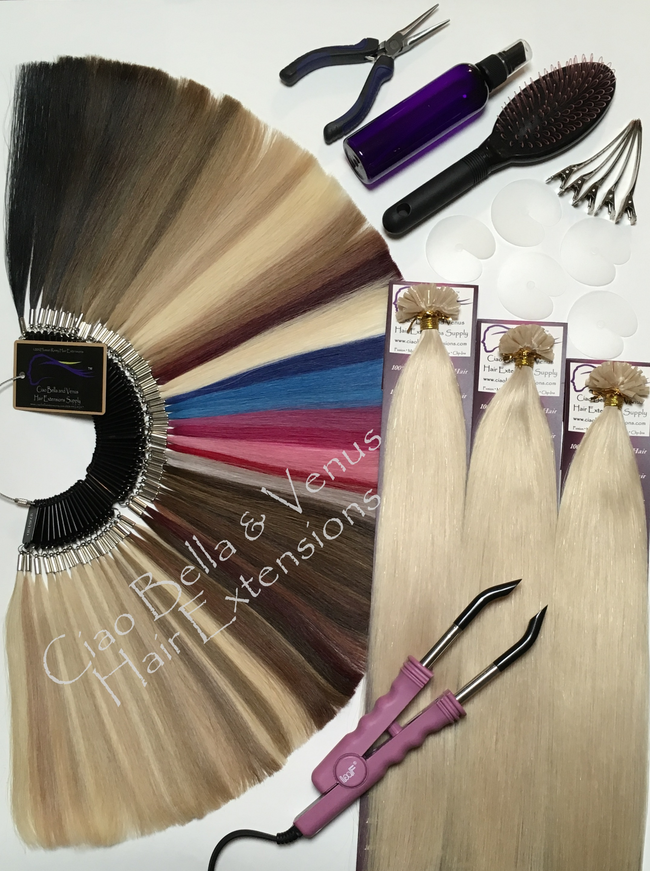 Buy the best human remy hair extensions brands online design kit 3 pack straight fusion hair extensions kits pmusecretfo Choice Image