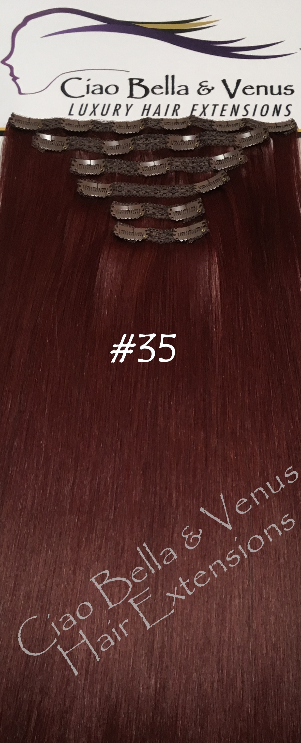 Clip In Hair Extensions Venus Luxury Remy 24 In Color 35