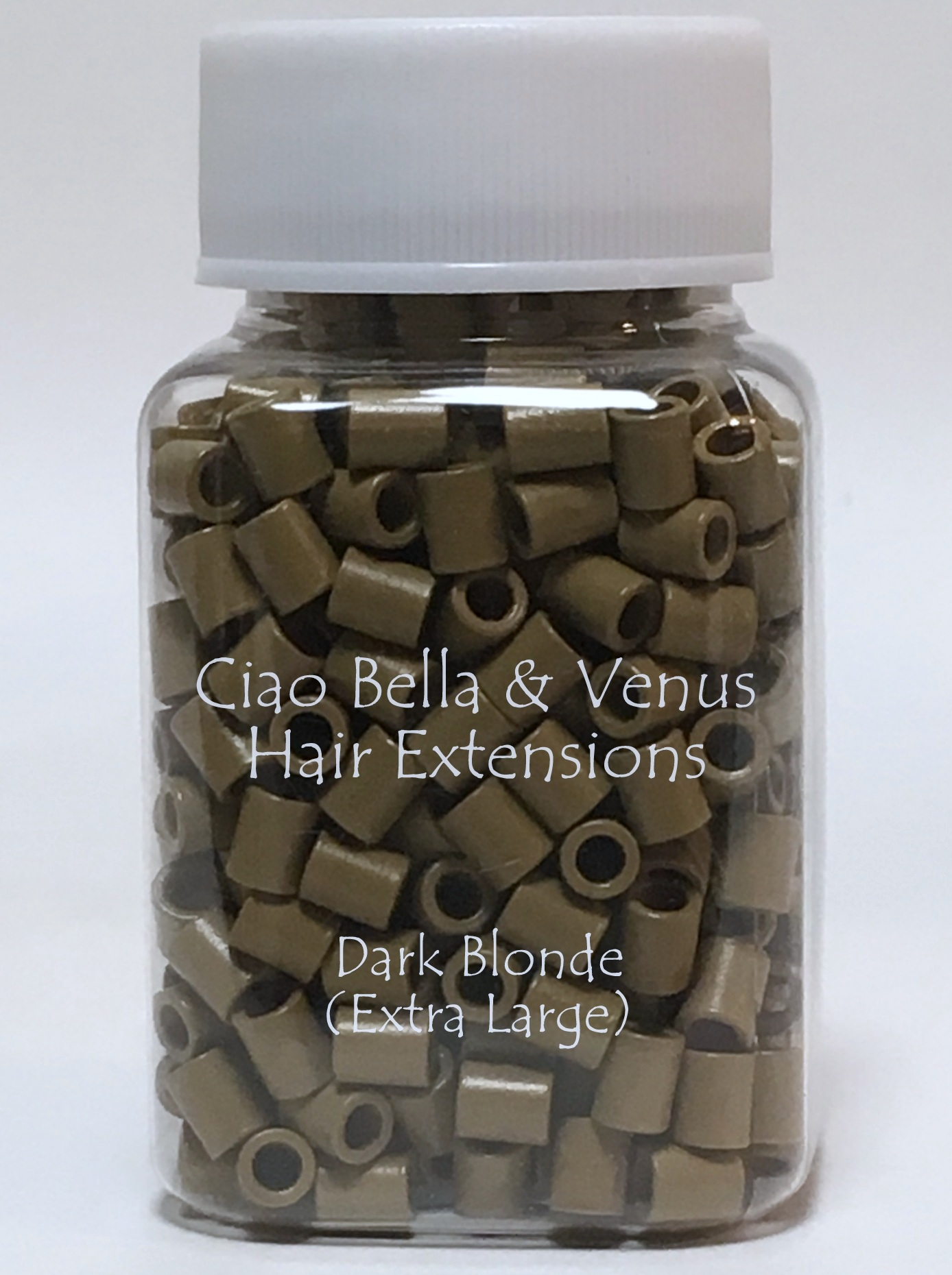 Special Micro Link Beads For Hair Extensions Dark Blonde Xl